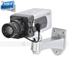 Wireless Motion Sensor Dummy CCTV Security Camera Panning Movement + LED Light
