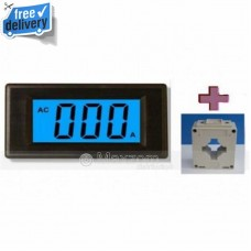 3 1/2 LCD Blue Digital Current Panel Meter AC 50A AMP