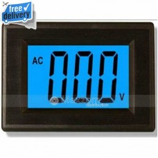 3 1/2 LCD Blue Digital Current Panel Meter AC 200V VOL