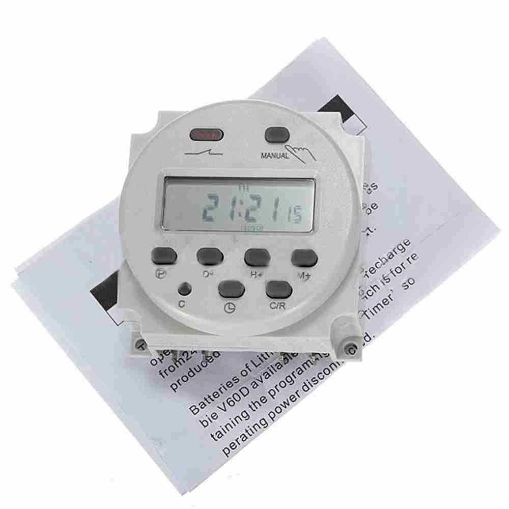 Digital Power Timer : Dc v a mini lcd digital programmable control power