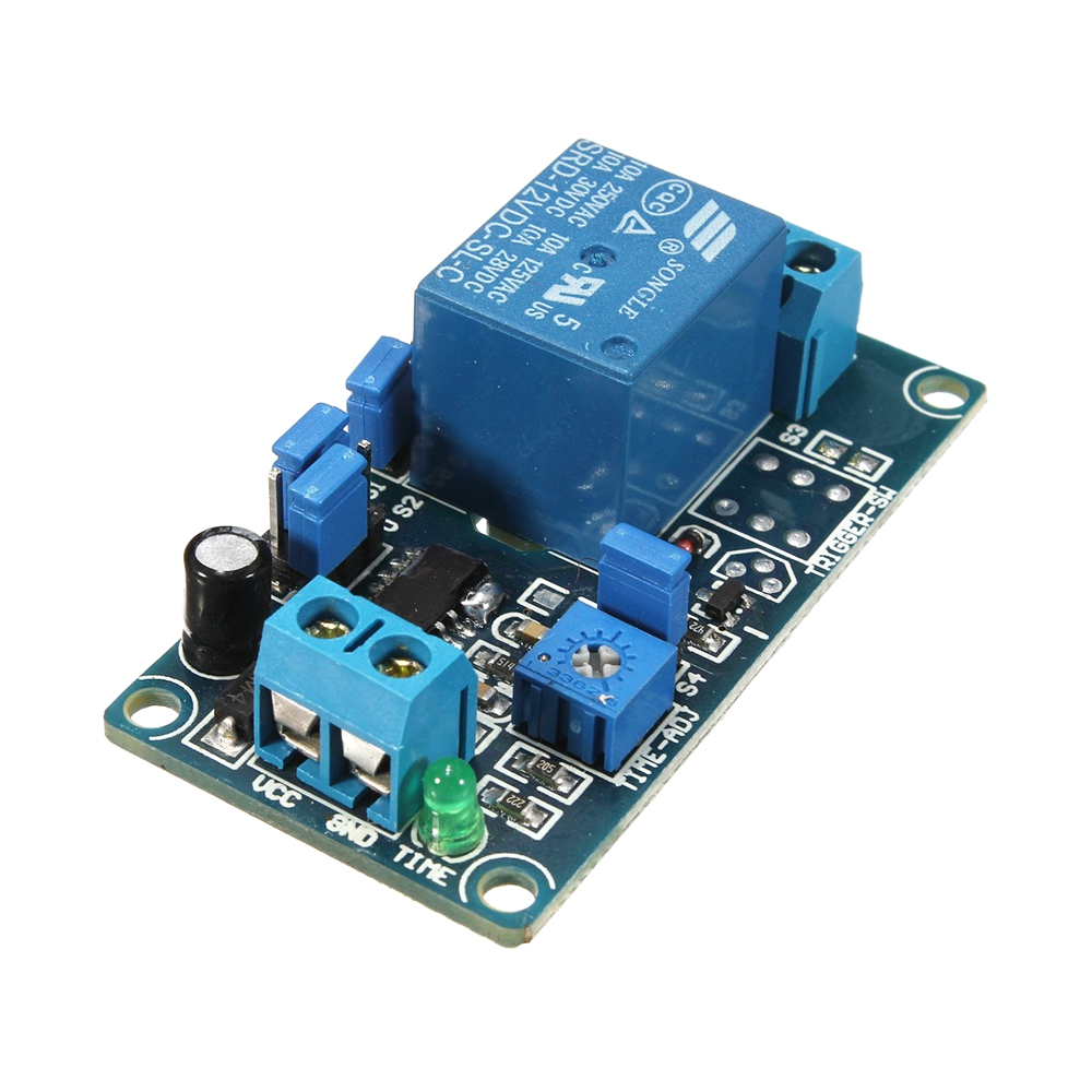 12v Power Delay Relay Timer Switch Circuit Module Better Than Ne555 Chip
