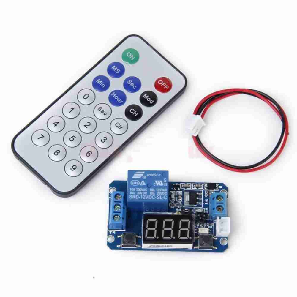 12 V Led Digital Programmable Timer Relay Switch Module Ir Remote 12volttimercircuitjpg Control
